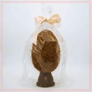uovo HODEIDAH bigusto di cioccolato al latte e cioccolato fondente con granella di nocciole Piemonte IGP